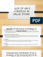 VALUE OF AN E-STRATEGY IN VALUE STORE power point slides.odp