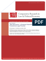 New Governance in European Corporate Law Regulation as Transation Legal Pluralism