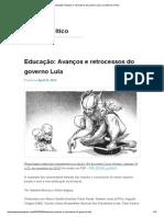 Educação_ Avanços e retrocessos do governo Lula _ Jornalismo Crítico