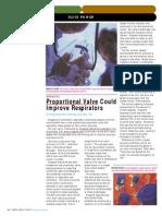 Proportional Valves Improve Respirators.
