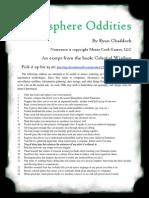 Datasphere Oddities