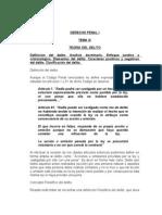 Derecho Penal i - Tema 4