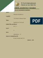 Métodos Estadísticos en datos no agrupados y datos agrupados