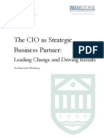 The Cio as a Strategic Business Partner