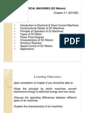 Chapter_2-1_dc_motors pdf   Electric Motor   Electric Generator