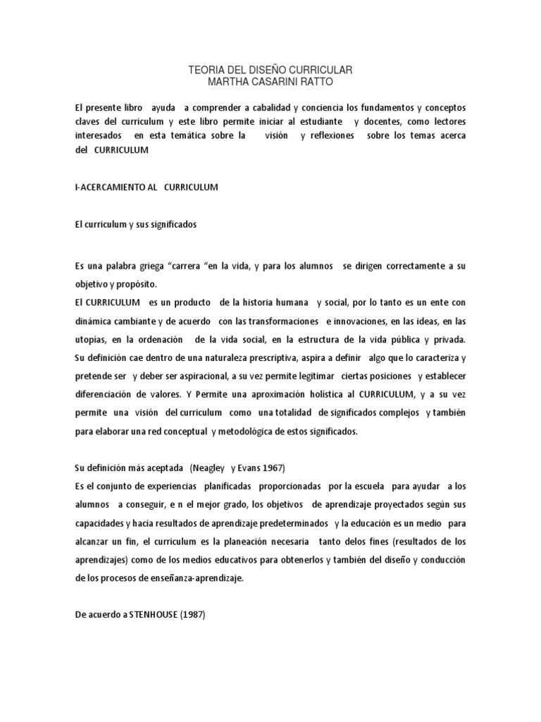 127499603 Teoria Del Diseno Curricular Docx
