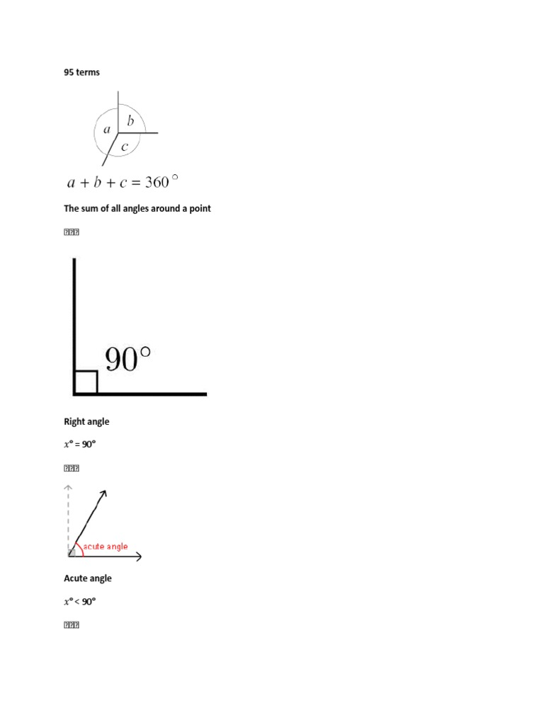 Geometry FlashCards.docx   Area   TriangleA Pair Of Adjacent Angles In Sports