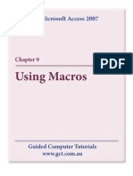 Learning Microsoft Access 2007 - Macros