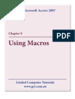 Learning Microsoft Access 2007 - Macros