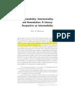 Rajewsky - Intermediality, Intertextuality, and Remediation