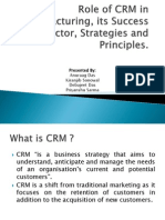 Role of CRM in Manufacturing, its Success.pptx