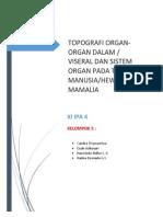 TOPOGRAFI ORGAN DAN SISTEM ORGAN PADA TUBUH MANUSIA.docx