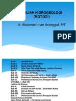 Hidrogeologi I - 2013