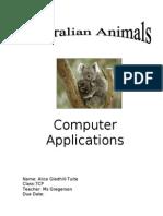 gledhill-tuite alice australian animals