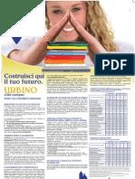 Università di Urbino, Manifesto degli Studi 2009/2010