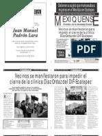 Versión impresa del periódico El mexiquense  25 octubre 2013