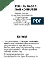 Pengenalan Dasar Jaringan Komunikasi Data