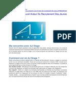 Job 2.0 AJ Stage, Le Nouvel Acteur Du Recrutement Des Jeunes !