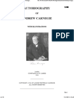 The Autobiography of Andrew Carnegie, by Andrew Carnegie