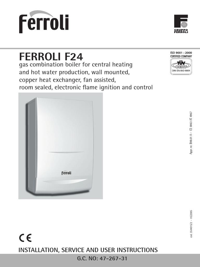 Ferroli f24 water heating thermostat for Ferroli domicondens f24