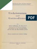 Oscar Cullmann Urchristentum Und Gottesdienst 1950