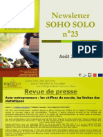 Newsletter Soho Solo n23 Aout09