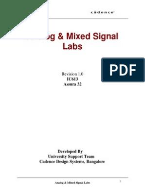 CADENCE Analog & Mixed Signal Labs pdf | Library (Computing