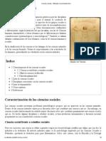 Ciencias Sociales - Wikipedia, La Enciclopedia Libre