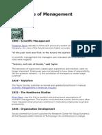 A Timeline of Management