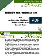 Pemikiran Melayu Mengenai Ilmu