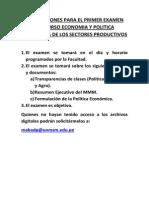 Instrucciones Examen Sectores Productivos