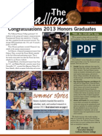 Clemson Honors Fall 2013 Newsletter