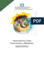 Prontuario Del Curso Funciones y Modelos
