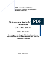 SINAT - 002 - Diretriz Técnica Paredes de Concreto Moldadas in loco
