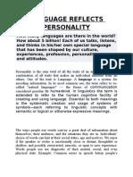 Language Reflects Personality