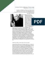 Entrevista a Derrida Por Antoine de Baecque y Thierry Jousse