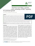 Milk Not Just Food mTORC1 Postnatal Growth NJ 2013