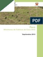Peru Monitoreo de Coca 2012