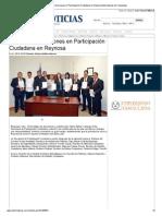 24-10-2013 'Formalizan direcciones en Participación Ciudadana en Reynosa'