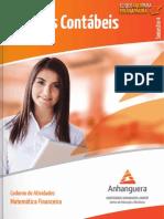 Caderno de Atividades Impressao Cco4 Matematica Financeira