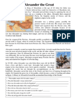 Alexander the Great and Athens and Sparta Worksheet