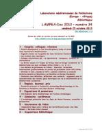 LAMPEA-Doc 2013 - numéro 34 / vendredi 25 octobre 2013