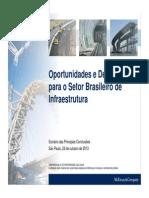 McKinsey - Visão Geral sobre Infraestrutura no Brasil (24 de Out de 2013)