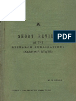 A Short Review Of The Research Publications ( Kashmir State) - M.S. Kaula.pdf