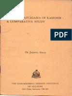 Vedanta and Advaita Saivagama A Comparative Study - Dr. Jaideva Singh.pdf