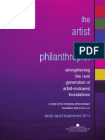 National Study of Artist–Endowed Foundations Report Supplement 2013