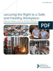 Securing the Right to a Safe and Healthy Workplace