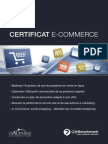 Certificat E-commerce PDF