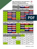 Itinerario de la LBPRC - Temporada 2015-16