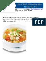 Học nấu canh trứng gà hải sản